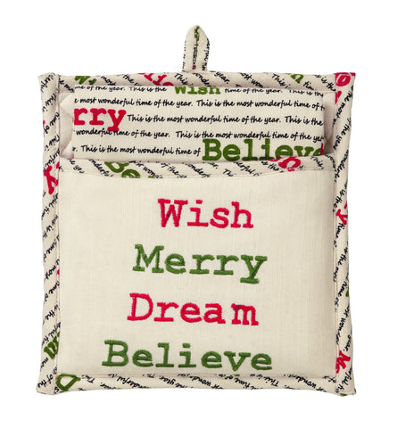 Christmas Wishes Potholder Gift Set