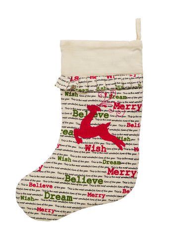 Christmas Wishes Reindeer Stocking