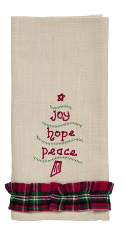 "Emerson ""Joy Hope Peace"" Dishtowel"