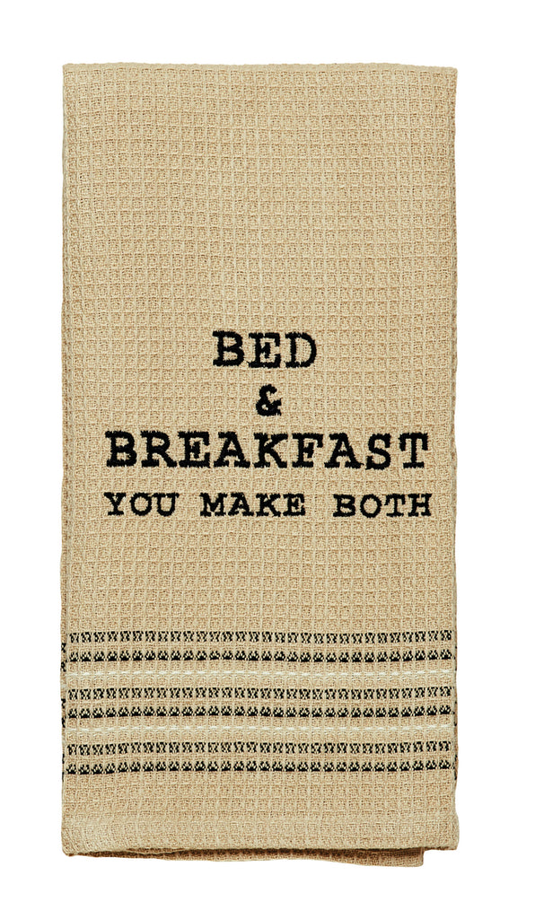 Bed & Breakfast Dishtowel - Country Farmhouse Kitchen Funny Dish Towels