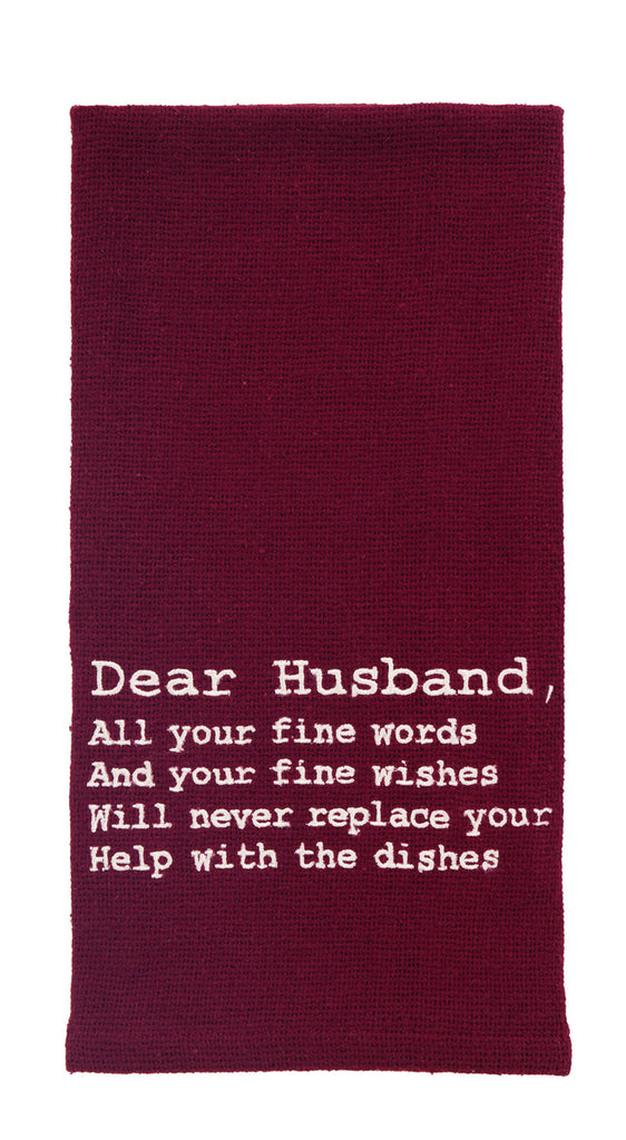 Dear Husband Dishtowel - Country Farmhouse Kitchen Funny Dish Towels