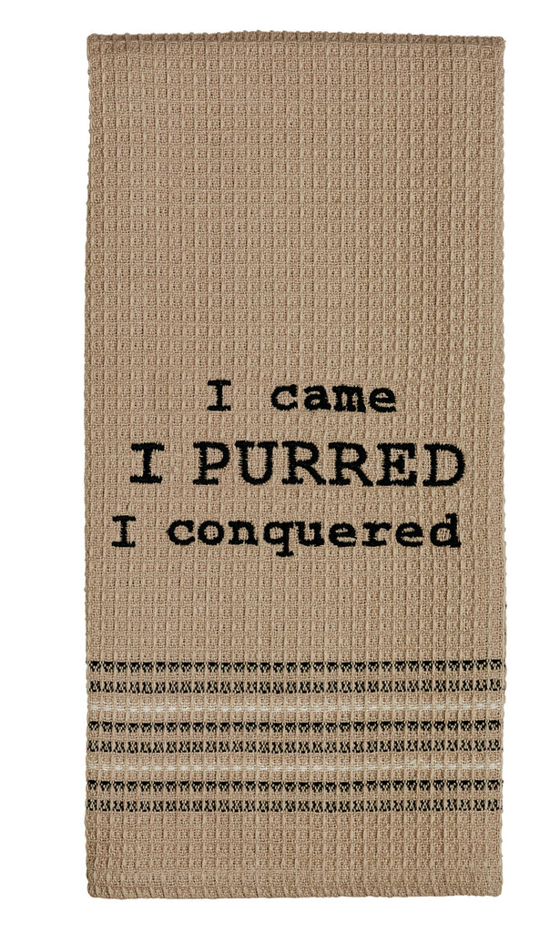 I Purred Dishtowel - Country Farmhouse Kitchen Cat Funny Dish Towels