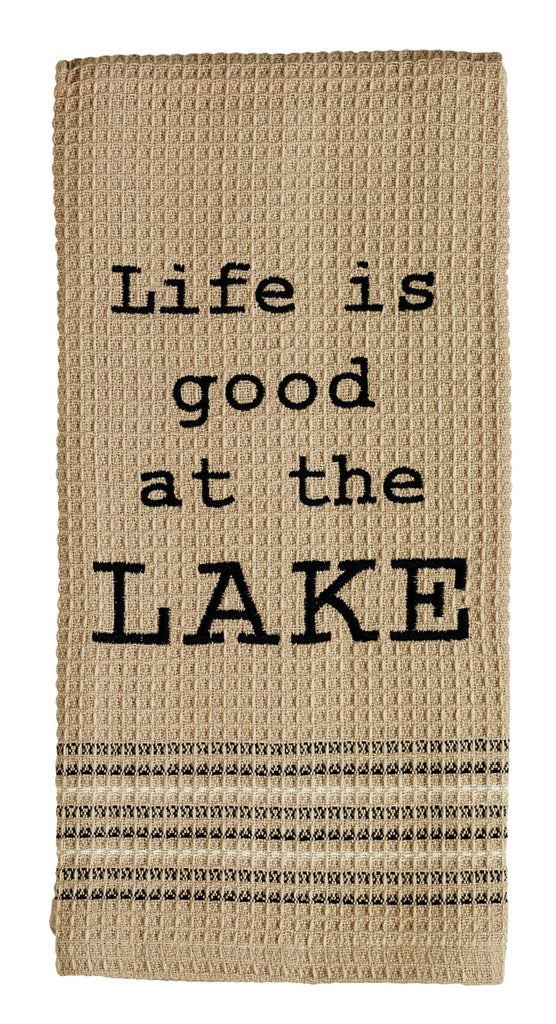 On The Lake Dishtowel - Country Farmhouse Kitchen Dish Towels