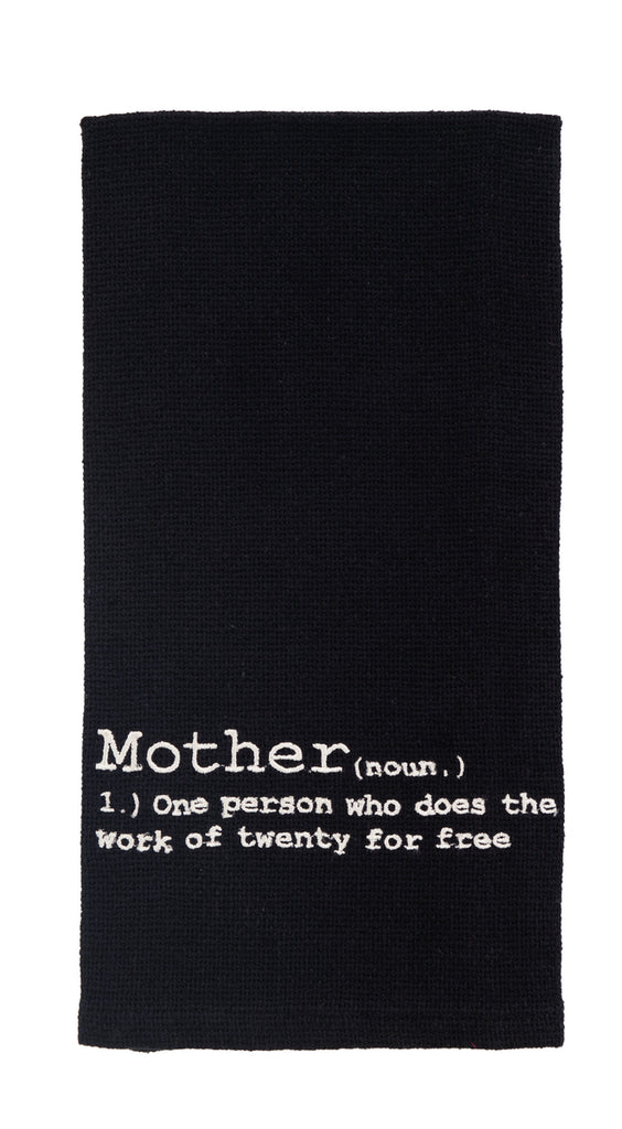 Mother Definition Dishtowel - Country Farmhouse Kitchen Dish Towels