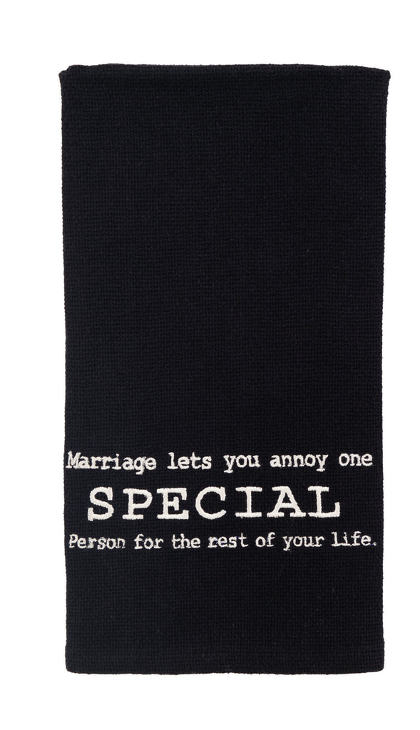 Annoy One Special Person Dishtowel - Country Farmhouse Kitchen Funny Dish Towels