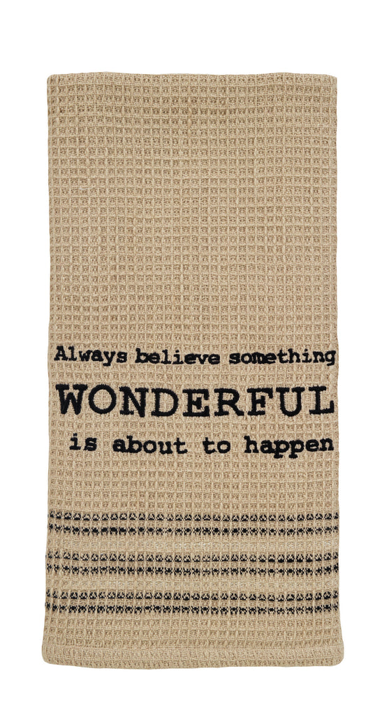 Always Believe Dishtowel - Country Farmhouse Kitchen Dish Towels
