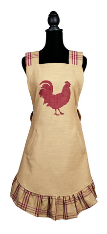 Red Rooster Decorative Apron