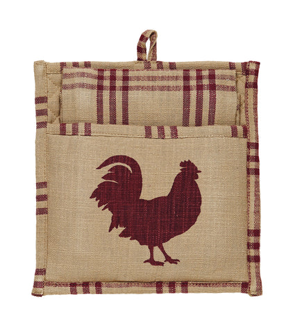 Red Rooster Potholder Gift Set - Set of 2