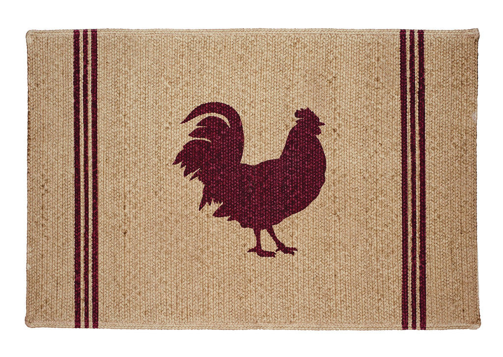 Red Rooster Rectangle Rug