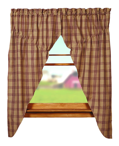 Cottonwood Red Prairie Curtain Set