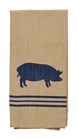 Pig Sty Dishtowel - Country Farmhouse Kitchen Funny Dish Towels