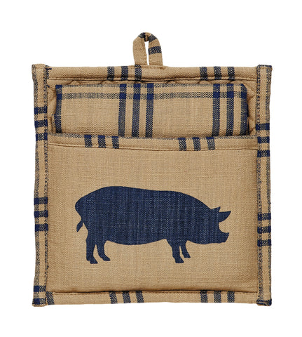 Pig Sty Potholder Gift Set - Set of 2