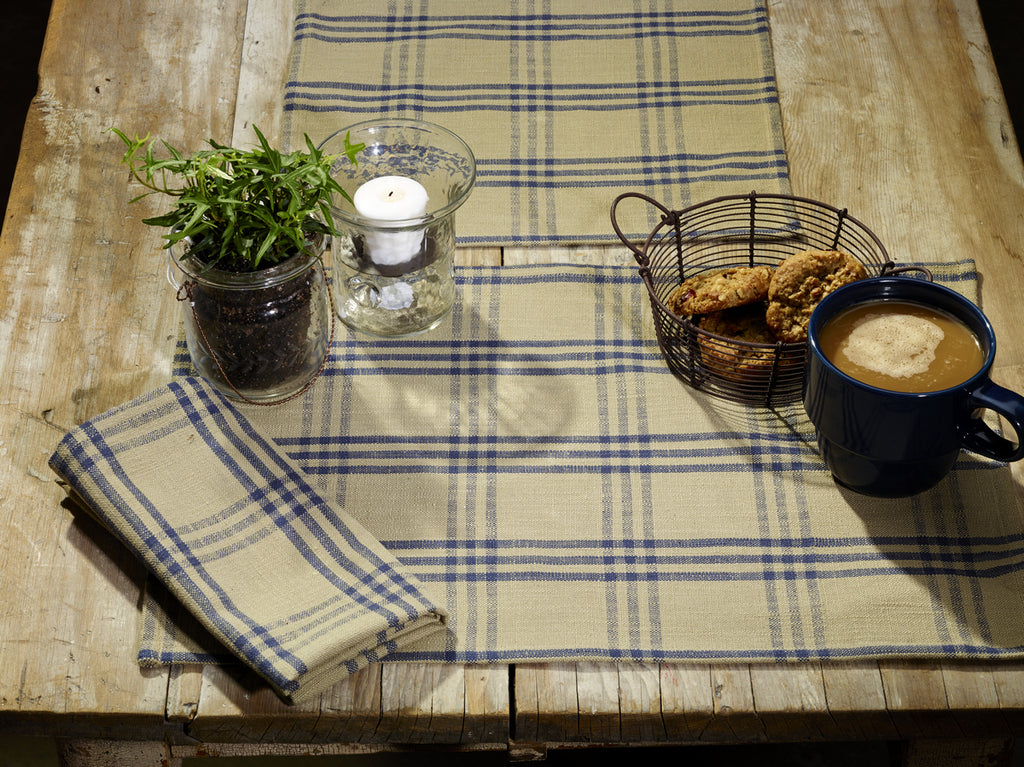 Cottonwood Blue Long Table Runner