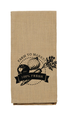 "Cattle ""Farm To Market"" Dishtowel"
