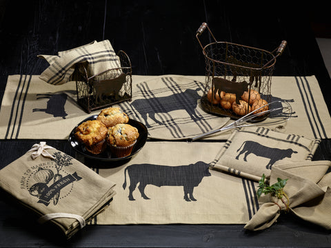 Cattle Long Table Runner