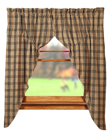 Cottonwood Black Prairie Curtain Set