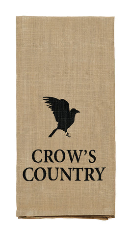 "Olde Crow ""Crow's Country"" Dishtowel - Country Farmhouse Kitchen Dish Towels"