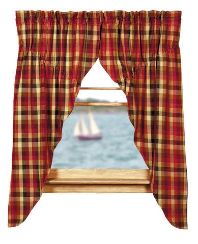 Cabernet Prairie Curtain Set