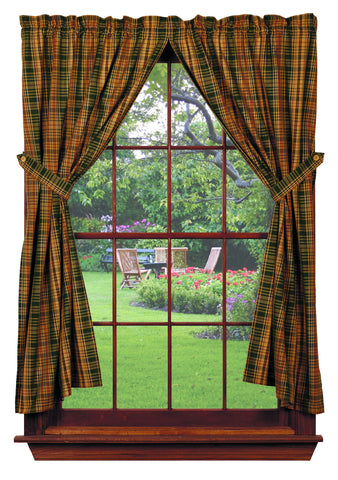 Woods Short Panel Window Curtains Pair - 72x63 total - 2 inch rod pocket