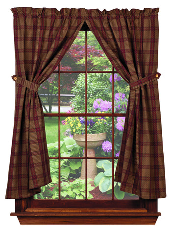 Chelsea Short Panel Window Curtains Pair - 72x63 total - 2 inch rod pocket