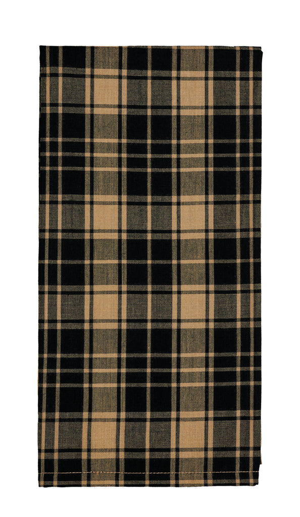 Heritage Check Black Dishtowel