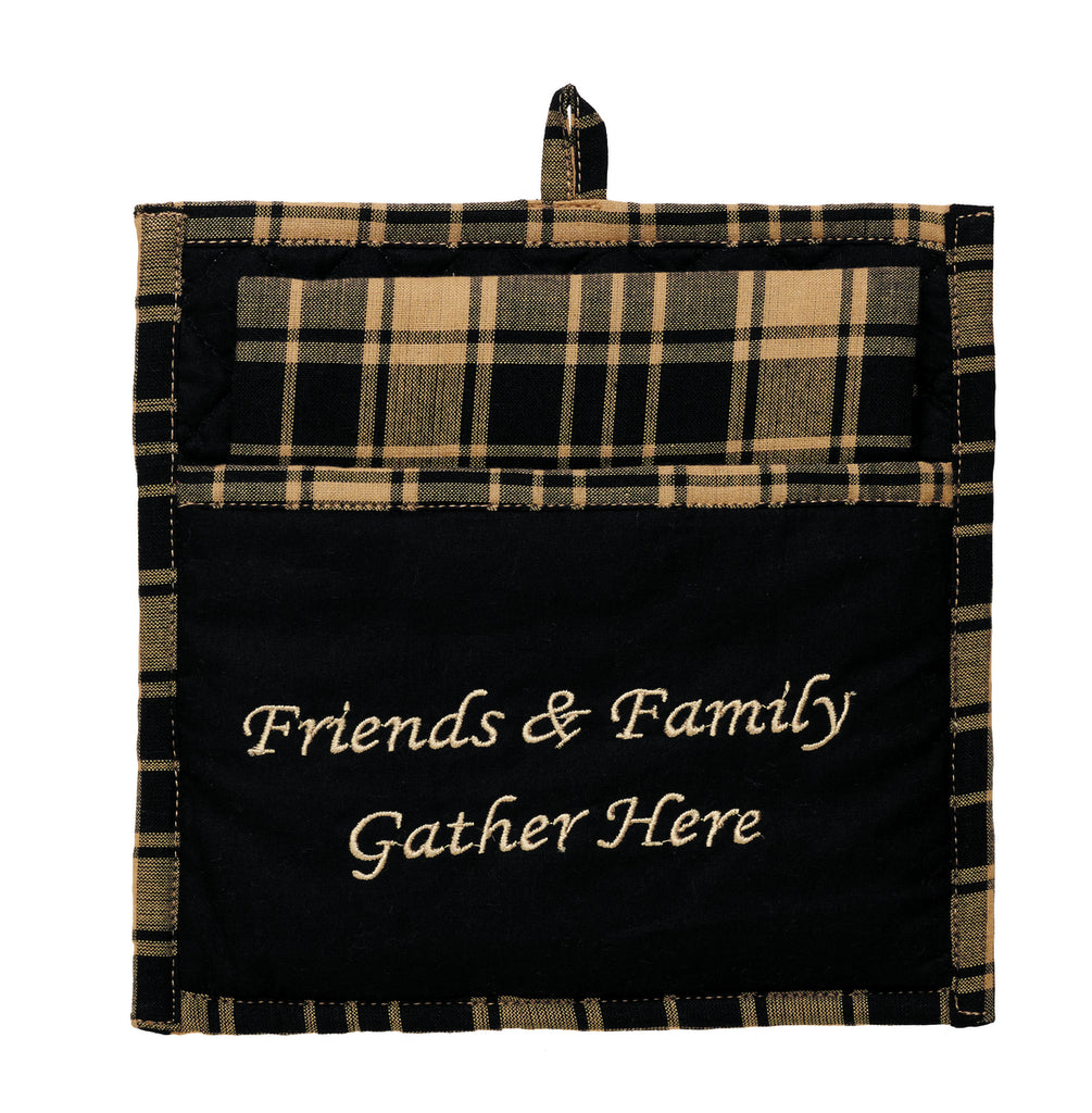 Heritage Check Black Potholder Gift Set - Set of 2