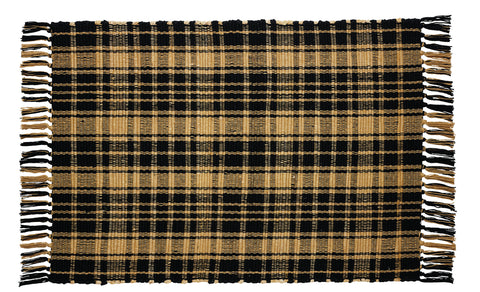 Heritage Check Black Rectangle Rug