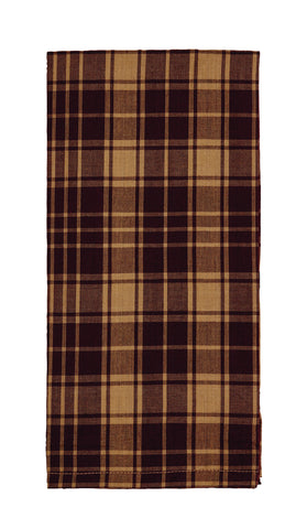 Heritage Check Wine - Burgundy Dishtowel