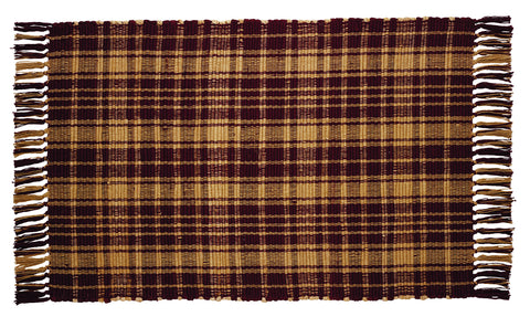 Heritage Check Wine - Burgundy Rectangle Rug