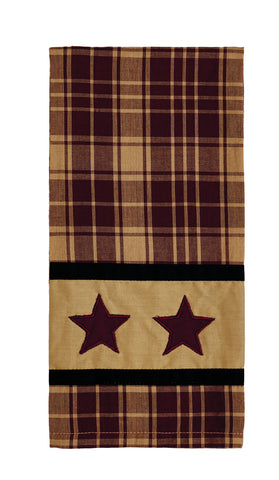 Heritage Star Wine - Burgundy Dishtowel
