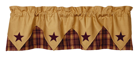 Heritage Star Wine - Burgundy Pointed Valance