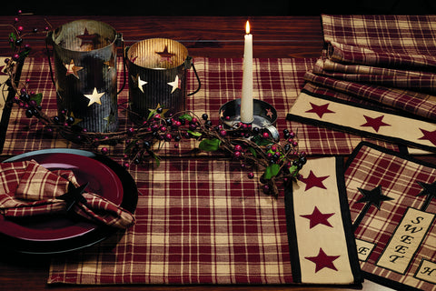 Heritage Star Wine - Burgundy Placemat