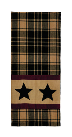 Heritage Star Black Dishtowel