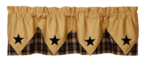 Heritage Star Black Pointed Valance