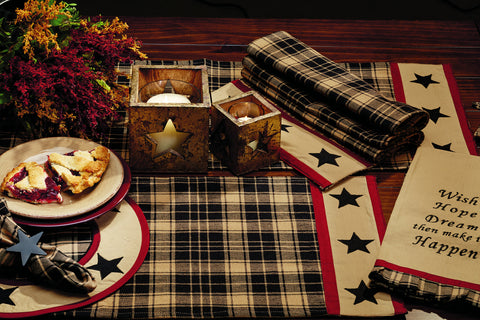 Heritage Star Black Placemat