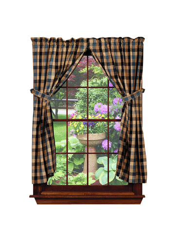 River Shale Short Panel Window Curtains Pair - 72x63 total - 2 inch rod pocket