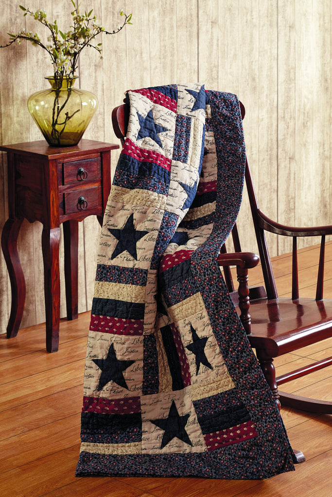 Liberty Quilted Throw Blanket