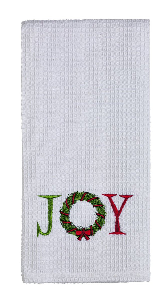Snow Friend Wreath Dishtowel