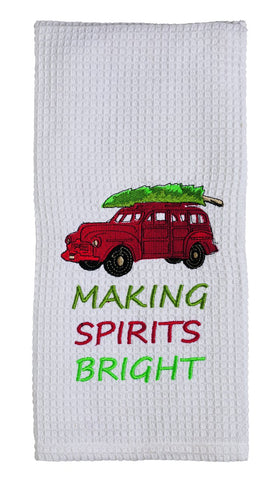 Snow Friend Making Spirts Bright Dishtowel