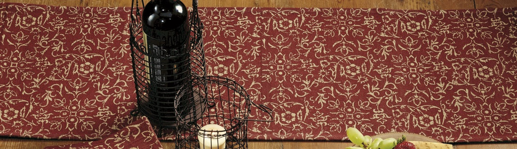 Evelyn Wine Long Table Runner