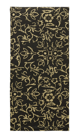 Evelyn Black Dishtowel
