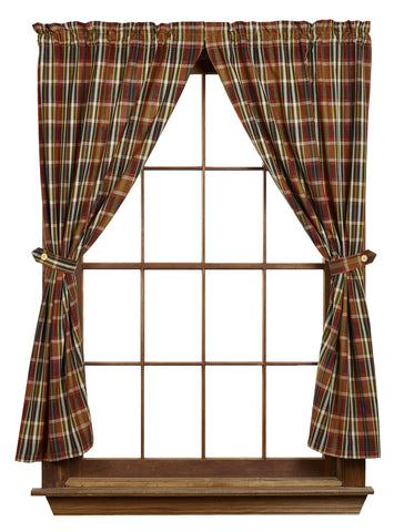 Montana Short Panel Window Curtains Pair - 72x63 total - 2 inch rod pocket