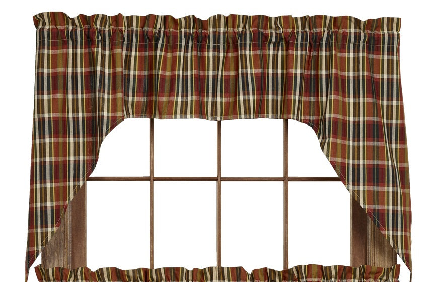 Montana Swag Set Window Curtains Pair - 72x36 total - 2 inch rod pocket
