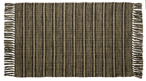 Black Terrace Rectangle Woven Rug
