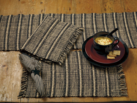 Black Terrace Short Table Runner
