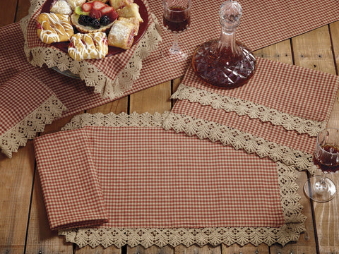 Ava Wine - Burgundy Short Table Runner