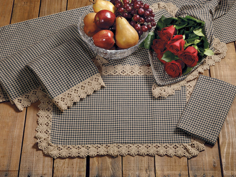 Ava Black Short Table Runner