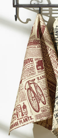 Classifieds Wine - Burgundy Dishtowel