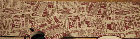 Classifieds Wine - Burgundy Short Table Runner
