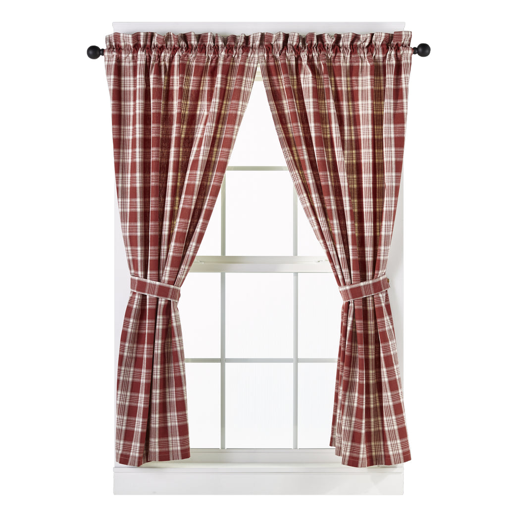 Barnyard Short Panel Window Curtains Pair - 72x63 total - 2 inch rod pocket